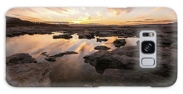 Galaxy Case featuring the photograph Rocky Shores Of Utah Lake by Wesley Aston