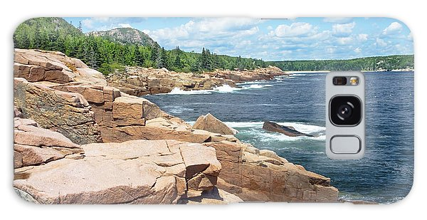Rocky Summer Seascape Acadia National Park Photograph Galaxy Case by Keith Webber Jr