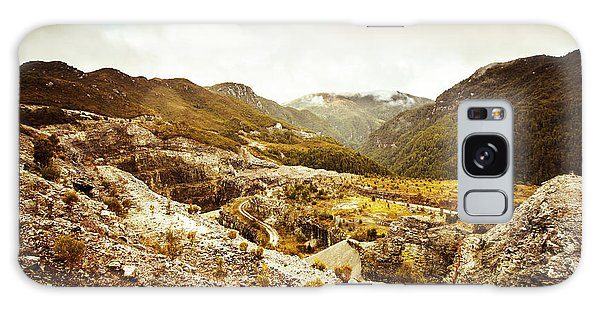 No People Galaxy Case - Rocky Valley Mountains by Jorgo Photography - Wall Art Gallery