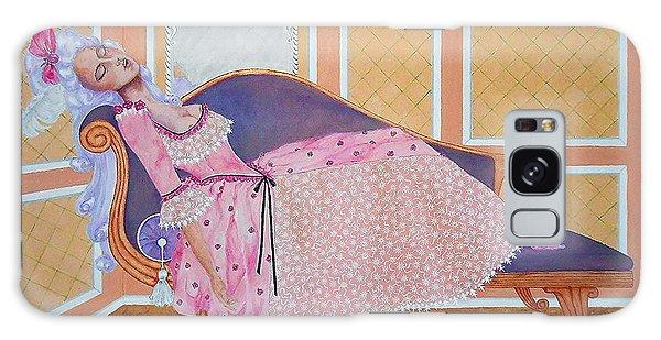 Rococo Coquette -- Mme. Pompadour, #2 In Famous Flirts Series Galaxy Case