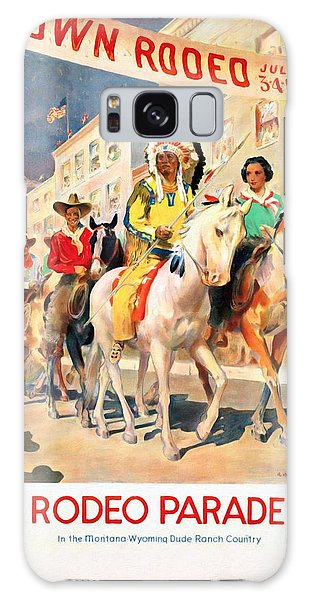 Rodeo Parade - Vintage Poster Restored Galaxy Case