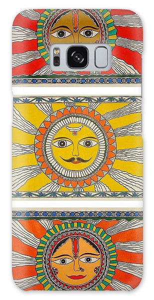 Madhubani Galaxy Case - Rohini-som-tara by Pawan Kumar Jha