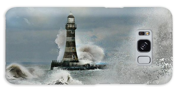 Roker Pier And Lighthouse Galaxy Case