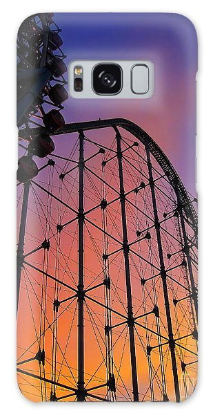 Roller Coaster At Sunset Galaxy Case by Eena Bo