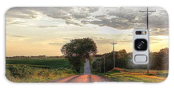 Rolling Down A Country Road Galaxy Case by Karen McKenzie McAdoo