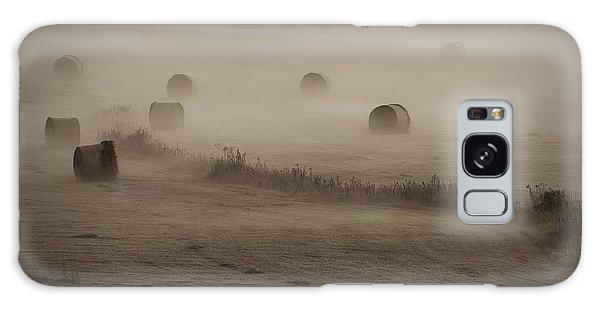 Rolling Field Of Hay Bales Galaxy Case