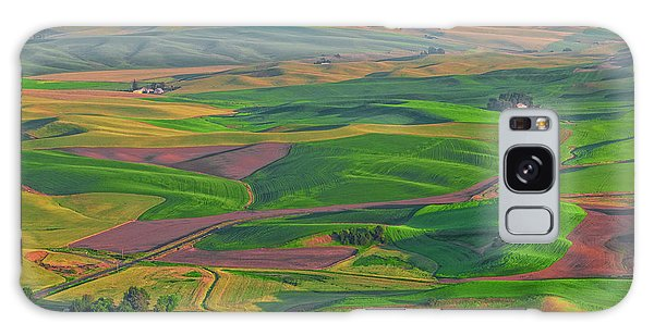 Rolling Green Hills Of The Palouse Galaxy Case by James Hammond