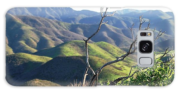 Galaxy Case featuring the photograph Rolling Green Hills With Dead Branches by Matt Harang