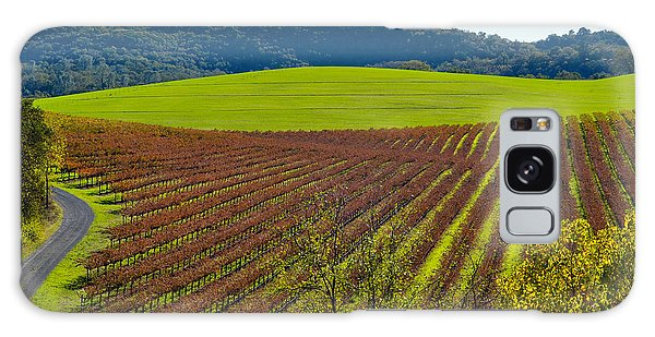 Rolling Hills And Vineyards Galaxy Case