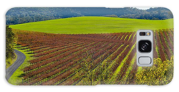 Rolling Hills And Vineyards Galaxy Case by CML Brown