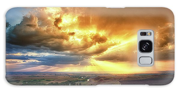Rolling Rain Of Summer Sunset Galaxy Case