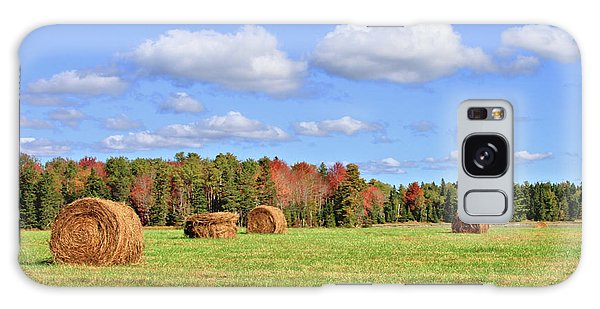 Rolls Of Hay On A Beautiful Day Galaxy Case
