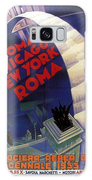 Vintage Chicago Galaxy Case - Roma, Chicago, New York - Vintage Illustrated Poster by Studio Grafiikka