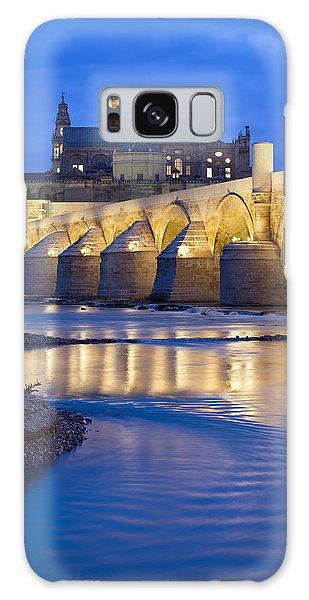 Roman Bridge On Guadalquivir River At Dawn Galaxy Case