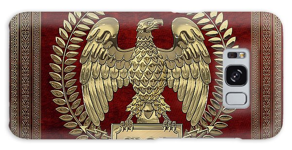 Roman Empire - Gold Imperial Eagle Over Red Velvet Galaxy Case