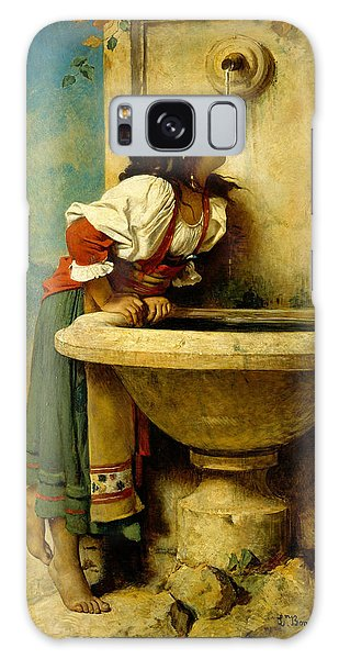 Roman Girl At A Fountain Galaxy Case