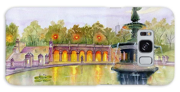 Central America Galaxy Case - Romance At Central Park Nyc by Melly Terpening