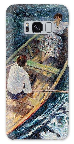 Dordogne , Beynac-et-cazenac , France ,romantic Boat Trip Galaxy Case by Pierre Van Dijk