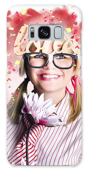 Vivacious Galaxy Case - Romantic Female Nerd In A Celebration Of Love by Jorgo Photography - Wall Art Gallery