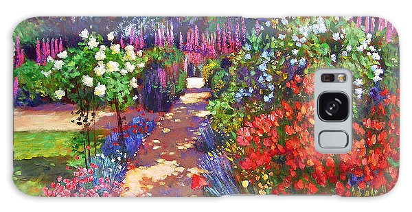 Romantic Garden Walk Galaxy Case