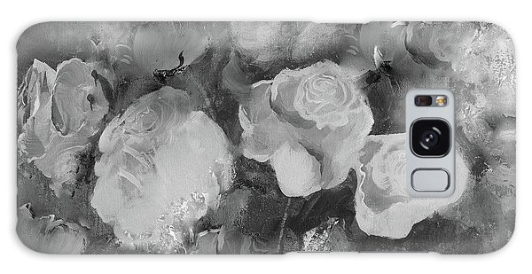 Galaxy Case featuring the painting Romantic Large Roses  by Robin Maria Pedrero