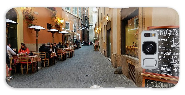Romantic Streetside Cafe Galaxy Case