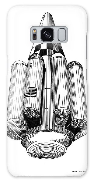 Rombus Heavey Lift Reusable Rocket Galaxy Case by Jack Pumphrey