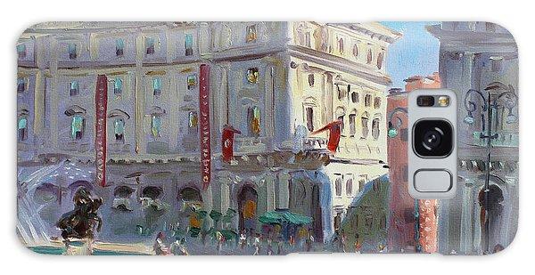 People Galaxy Case - Rome Piazza Republica by Ylli Haruni