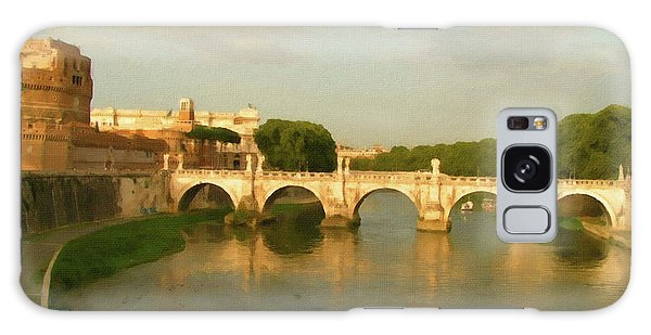 Rome The Eternal City And Tiber River Galaxy Case