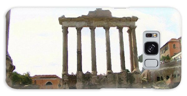 Galaxy Case featuring the mixed media Rome The Eternal City by Rosario Piazza