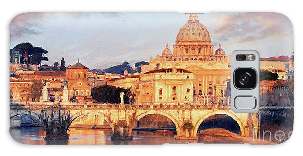 Rome The Eternal City - Saint Peter From The Tiber Galaxy Case