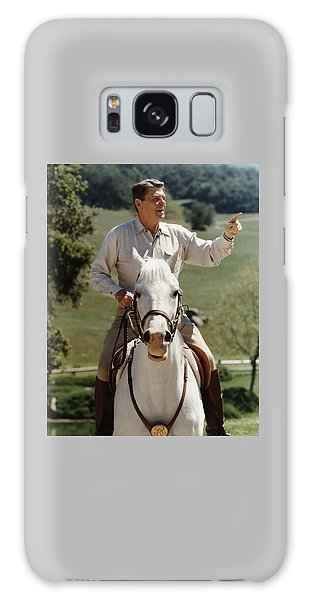 Politicians Galaxy Case - Ronald Reagan On Horseback  by War Is Hell Store