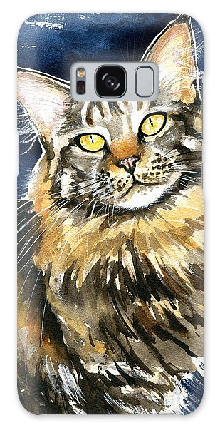 Ronja - Maine Coon Cat Painting Galaxy Case
