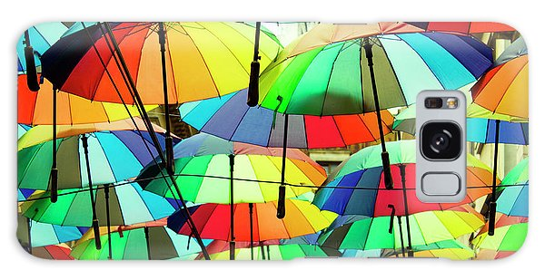 Roof Made From Colorful Umbrellas Galaxy Case by Vlad Baciu