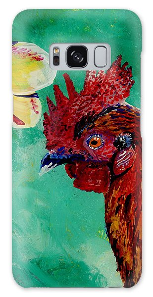 Rooster And Plumeria Galaxy Case