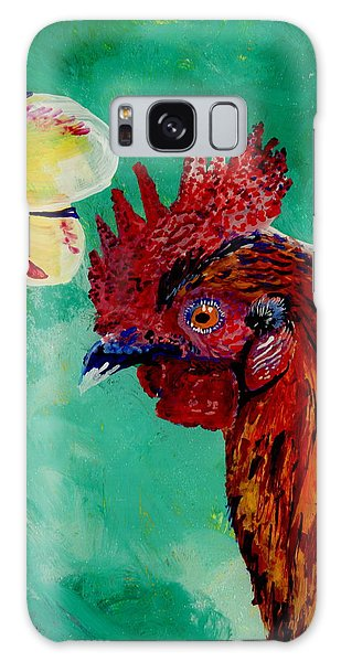 Rooster And Plumeria Galaxy Case by Marionette Taboniar