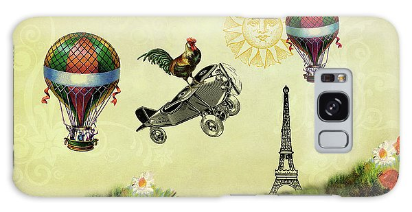 Rooster Flying High Galaxy Case by Peggy Collins