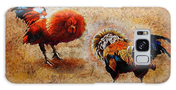 Roosters  Scene Galaxy Case