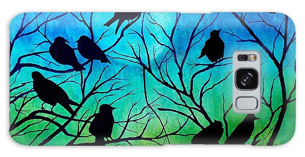 Roosting Birds Galaxy Case by Susan DeLain