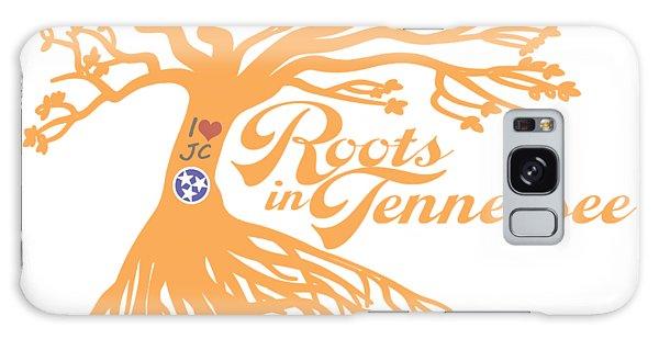 Roots In Tn Orange Galaxy Case by Heather Applegate