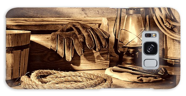 Rope And Tools In A Barn Galaxy Case