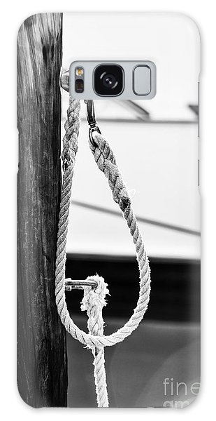 Fence Post Galaxy Case - Rope Fence Fragment In Harbour by Elena Elisseeva