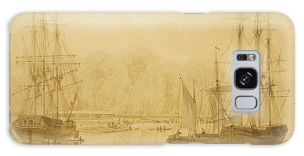 Bay Galaxy Case - Ropewalk At Wapping, West Indiaman Union On Left, 1826  by Thomas Leeson the Elder Rowbotham