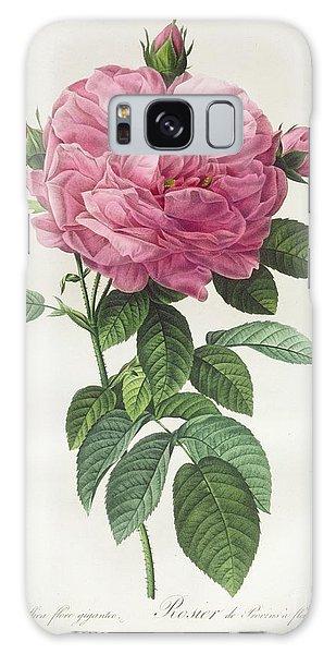 Botanical Garden Galaxy Case - Rosa Gallica Flore Giganteo by Pierre Joseph Redoute