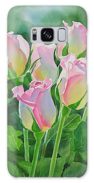 Flower Galaxy Case - Rose Array by Sharon Freeman