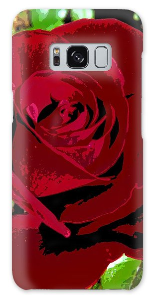 Rose Bloom Galaxy Case by Matthew Bamberg