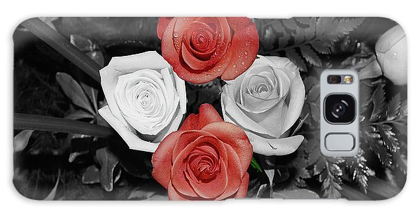 Rose Bouquet Galaxy Case by DigiArt Diaries by Vicky B Fuller