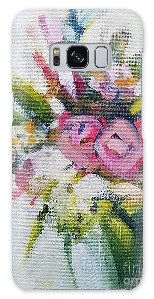 Rose Bouquet Flower Color Spring Galaxy Case