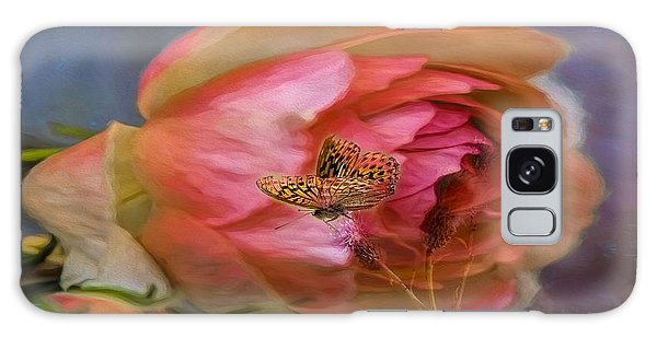 Galaxy Case featuring the photograph Rose Buttefly by Leif Sohlman