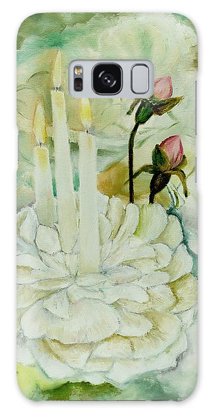 Rose Candles Galaxy Case by Miriam Leah